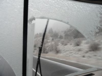 Snow beginning on I-70