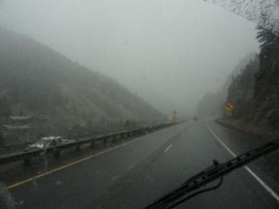 Snow begins in the Rockies